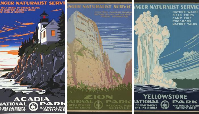 wpa parchi nazionali poster